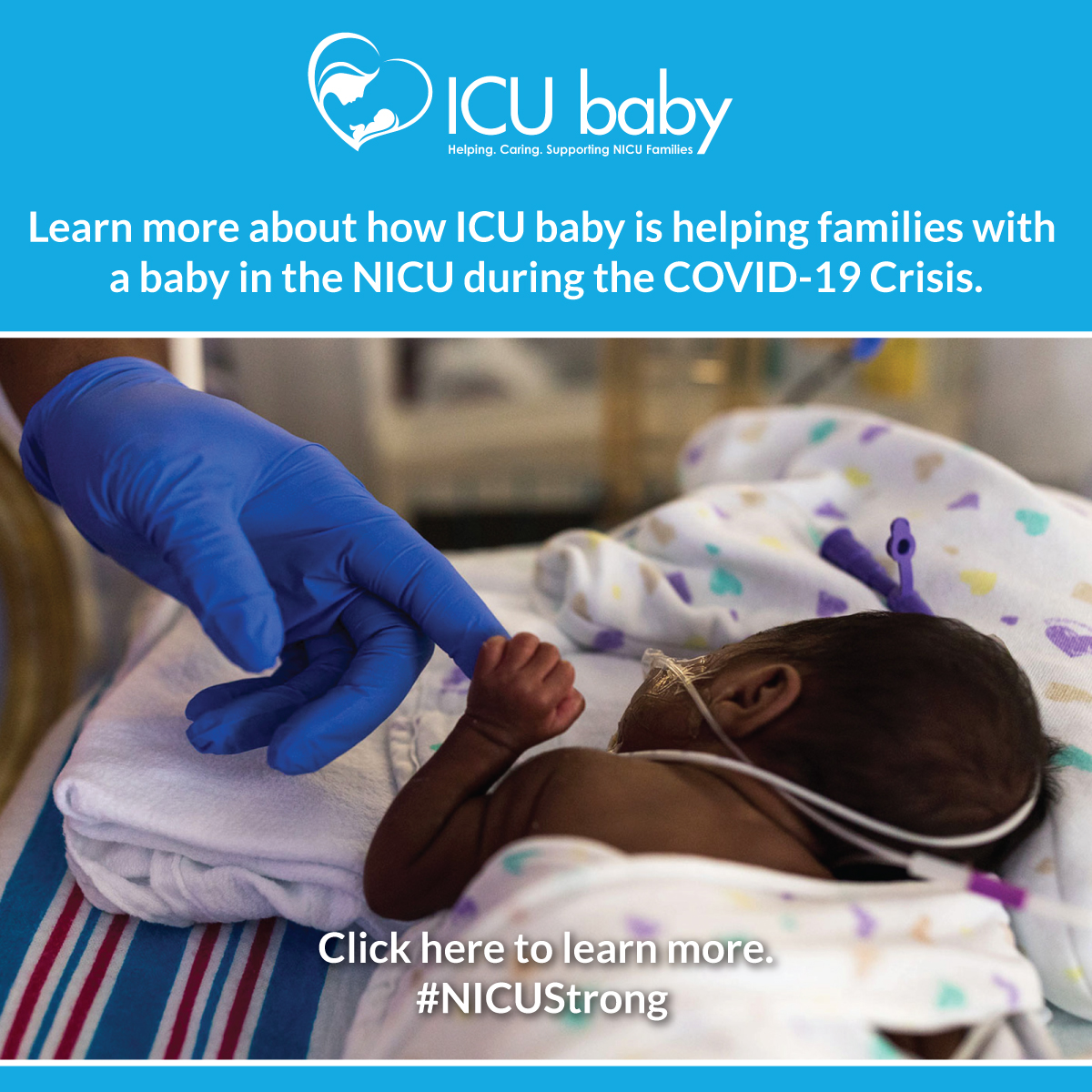 Learn more about how ICU baby is helping families with a baby in the NICU during the COVID-19 Pandemic