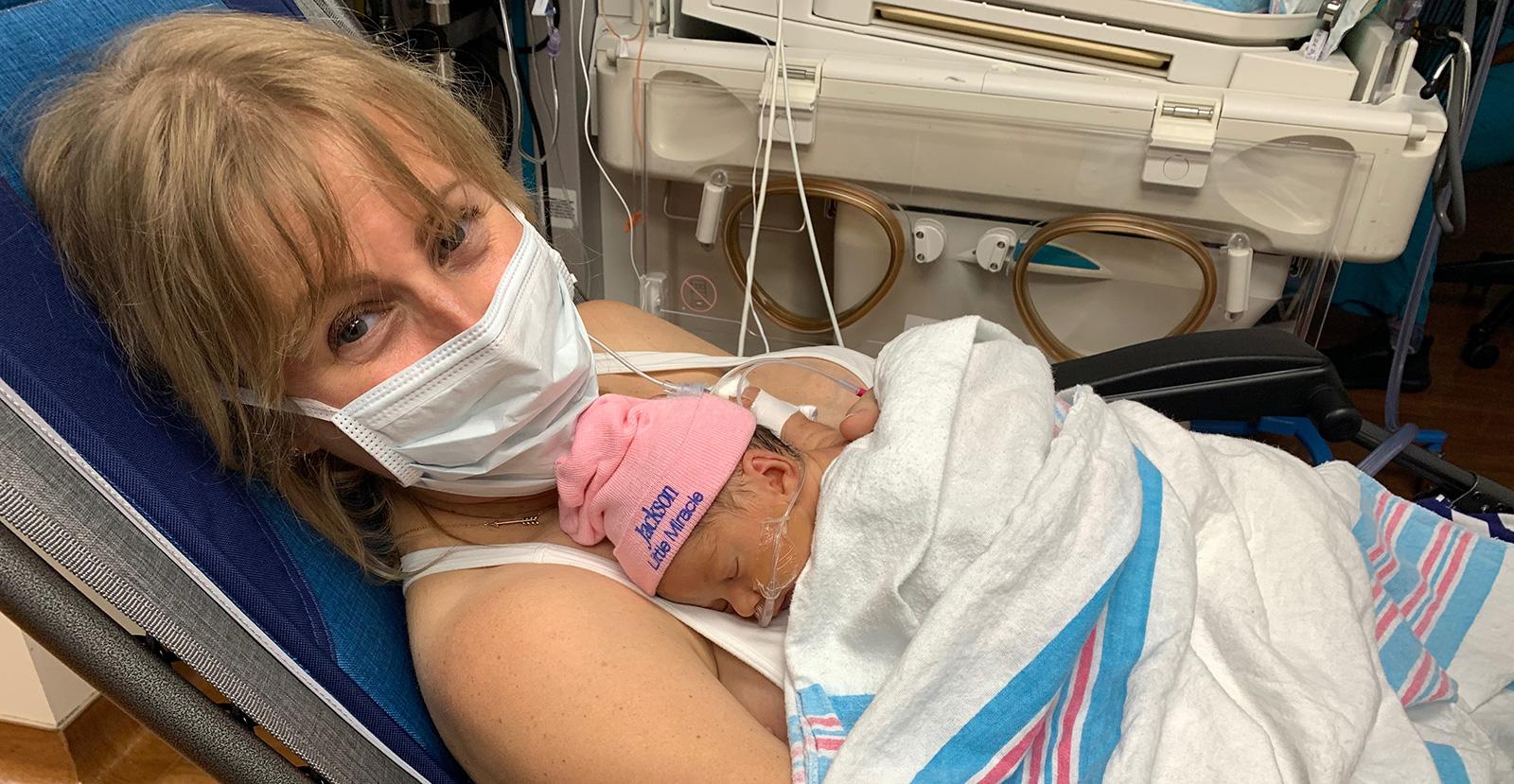 NICU mom & baby | Parent to Parent Support